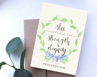 Mother's Day Card // Proverbs 31 // Watercolor