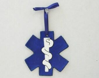 Personalized EMT Ornament, Star of Life Ornament, Medic Ornament, Paramedic Gift, EMS Gift, First Responder, Medical Ornament, EMT Gift