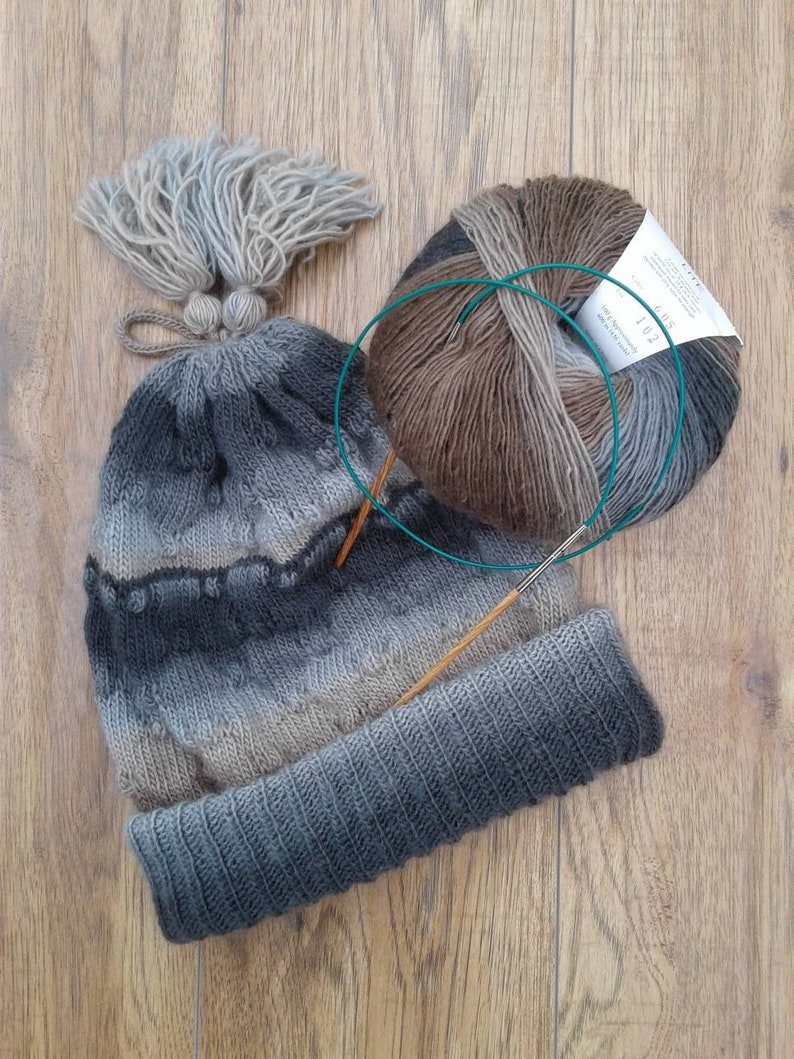 f4b6c28b414 DIY knitting kit for my fabulous convertible slouch hat