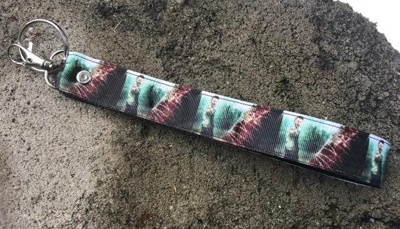 The Walking Dead Rick Grimes Lucille /& Negan Inspired Wristlet Lanyard  Key Chain Fob