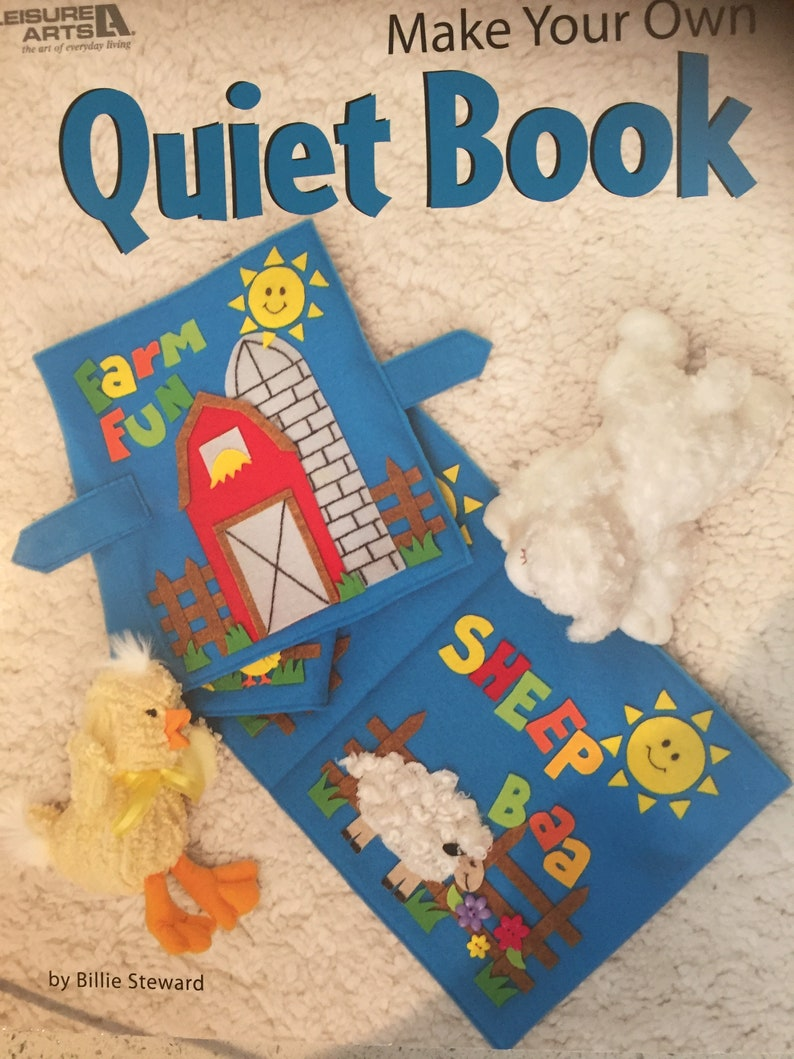 Quiet Time Book By Billie Steward Diy Toddler Books How To Etsy