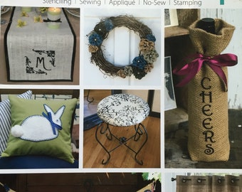 Decorate with Burlap Craft Book DIY Creations