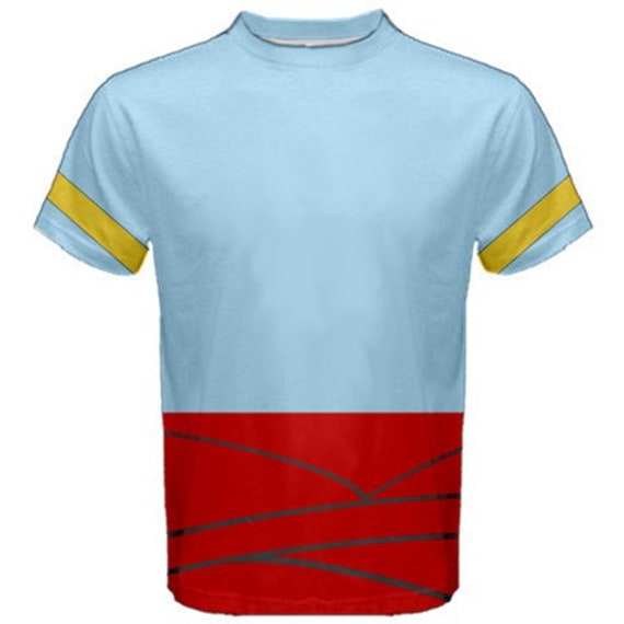 Men/'s Aladdin Genie Face Blue T-Shirt Unisex Disney Adult Tee