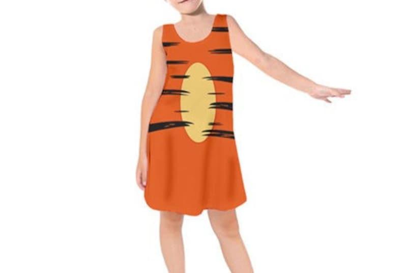 Winnie the Pooh Girl Tigger Costume Girl Tigger Dress