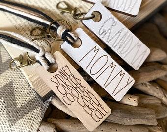 Keychains + Bag Tags