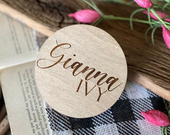 Wood Baby Name Sign