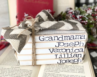 Personalized Wood Book Set