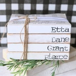 Personalized Gift, Personalized Custom Books, Stamped Books, Stamped Book Set, Custom Stamped Books, Personalized Books, Unbound Books