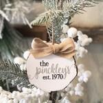 Family Christmas Ornament, Keepsake Ornament, 1st Christmas, Personalized Christmas Ornament, New Baby, Baby Shower, New Mom Gift