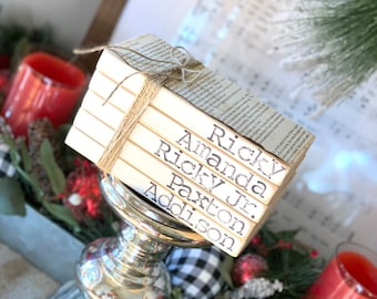 Personalized Wood Stacks