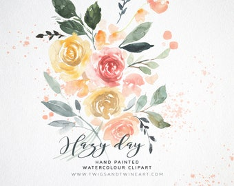 Watercolour Flower Clipart - Hazy Day