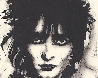 Siouxsie Sioux (The Banshees) Lino 15cm x 20cm