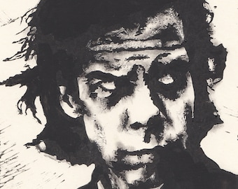Nick Cave Lino 15cm x 20cm - Limited run of 30