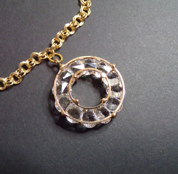 """Large circle (2"""") pendant with chain"""