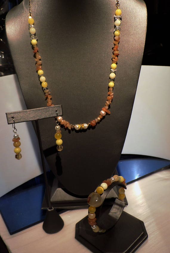 Fall Festival..Carnelian  Pearls and Agates