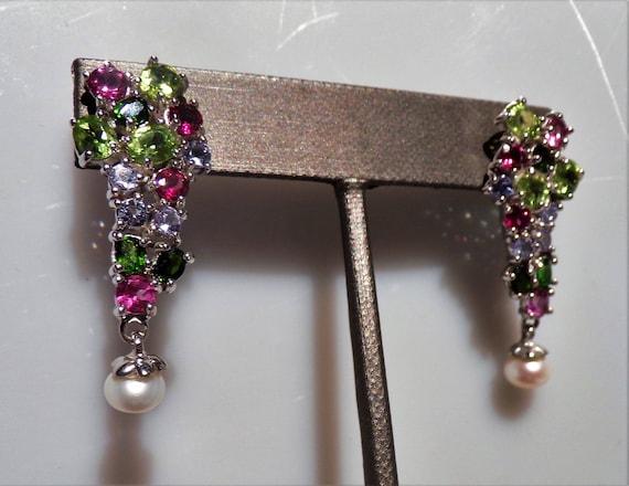 Breath taking multi gemstone earrings