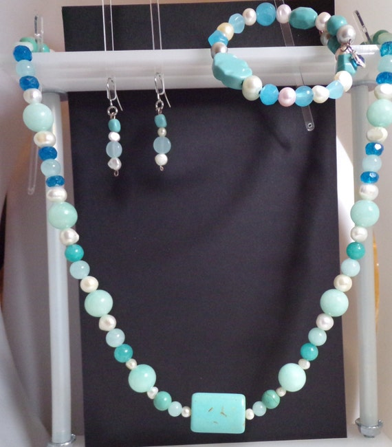 Blue Heaven 3 piece jewelry suite