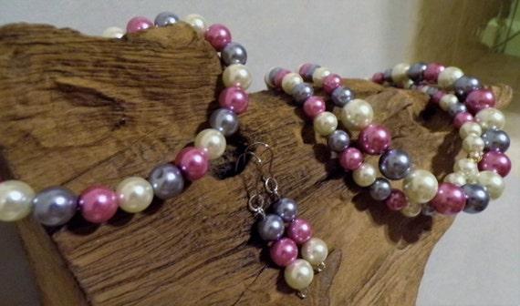 Rose Pink, Silver Grey & Winter White