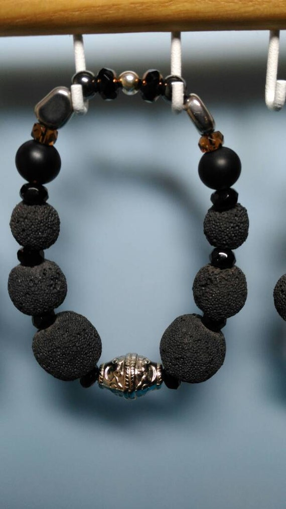 Men's Lava Rock based bracelet
