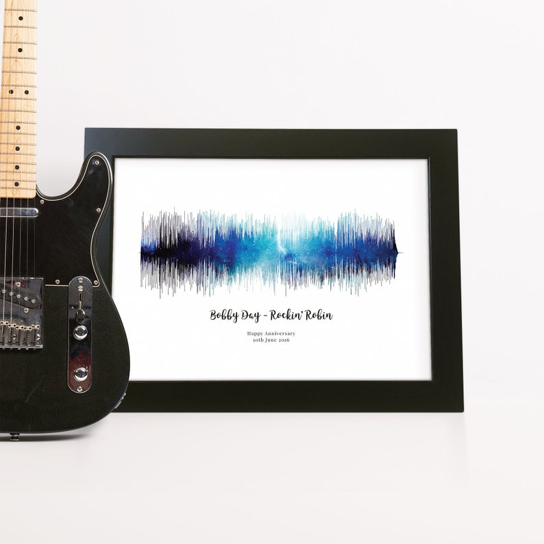 Space Themed Soundwave Art using Any song Anniversary Gift For Husband  Office Decor Music