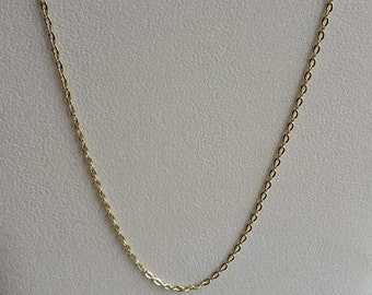 3a307977a Gold Plated Necklace, Gold Plated Chain, Gold Necklace, Gold Chain, 20inch  Gold, 20