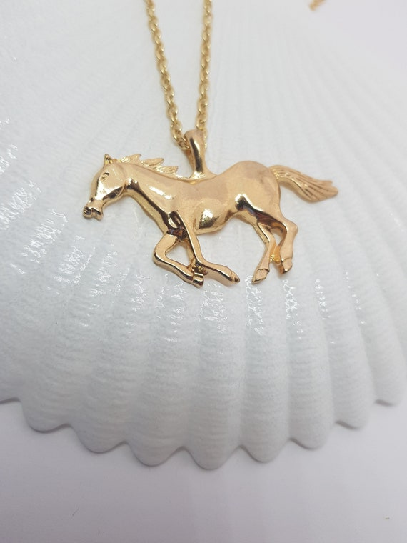 Unique Electroplating Galloping Horse Pendant DIY Jewelry Making Accessories