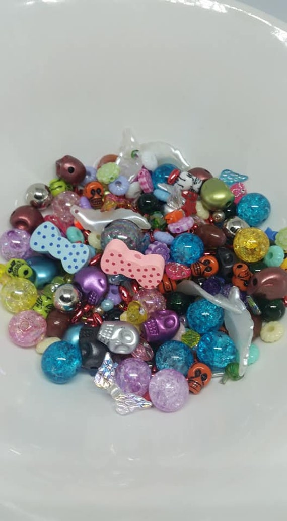 1 x Bag Mixed Bead Soup Glass//Acrylic Various Colours Available