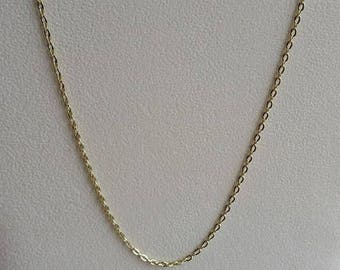 "Gold Plated Necklace, Gold Plated Chain, Gold Necklace, Gold Chain, 22 inch Gold, 22"" Gold, 22"" Necklace, 22"" Chain, Gold Link Chain, Link"