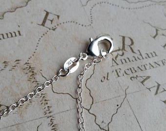 "925 Necklaces, Silver Necklaces, Silver Chain, Silver Tracer Chain, Tracer Necklace, Link Chains, 16"", 18"", 20"" Singapore Chain, Singapore"