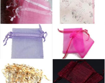 Organza Bags, Jewellery Bags, Jewellery Pouches, Wedding Favours, Voile, Party, Wedding, Gift bag, Tie Bags, Packaging,