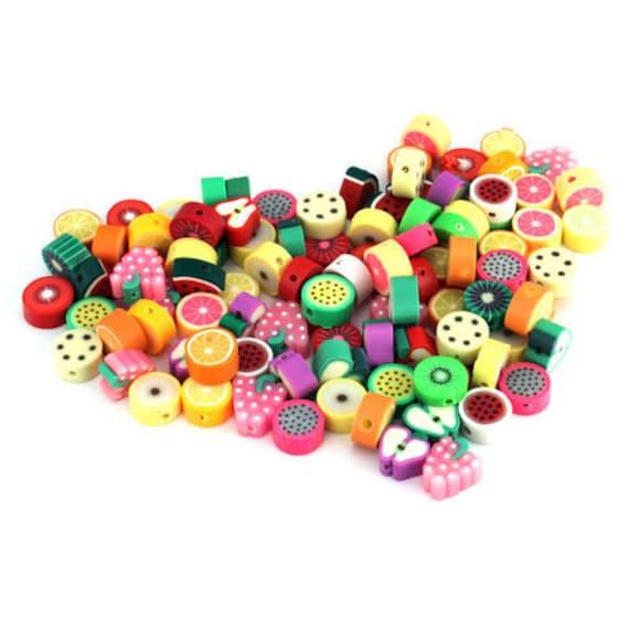 50 BULK Beads Polymer Clay Beads Pineapple Beads 16mm Fruit Beads
