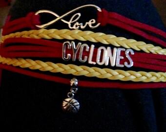 Iowa State Cyclones Basketball Bracelet