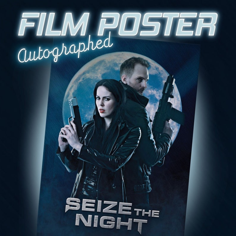 Seize the Night  28.6 x 43.9 cm Autographed Film Poster image 0