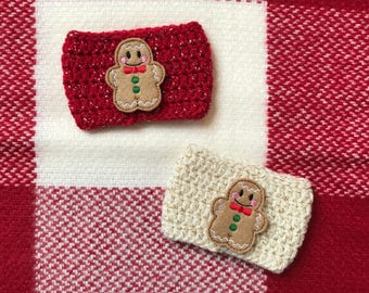 Ginger Bread Man Coffee Cozy | Christmas  Coffee Cozy | Christmas Cookie Cozy
