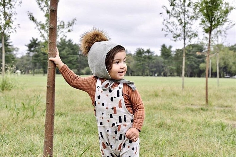 Winter Baby Bonnet  Winter Pom Hat  Pom Hat  Kid's image 0