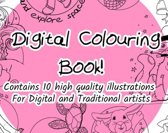 Digital Colouring Book - Ten Colouring pages