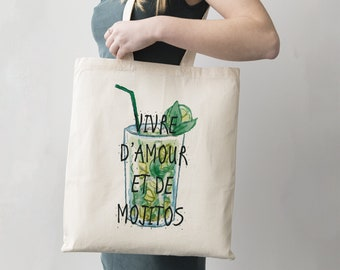 "Tote Bag ""Living Love and Mojitos"" - shopping bag"
