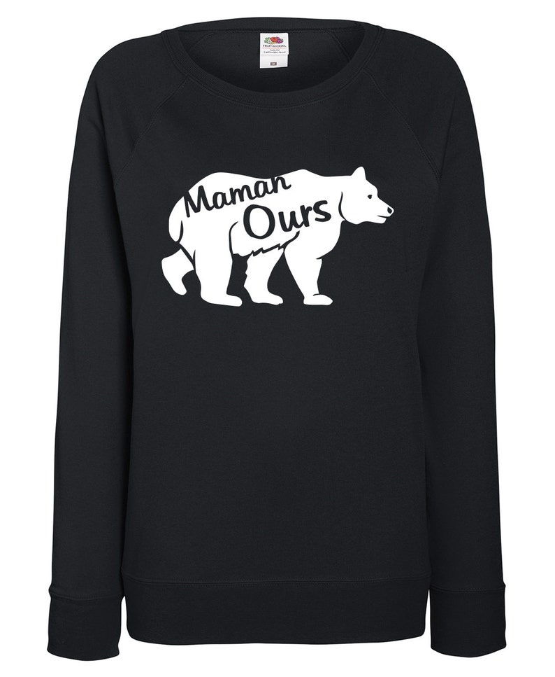 Mama sweat birthday present 3 colors to choose from mother bear family MOM light Sweatshirt woman XS to XL gift