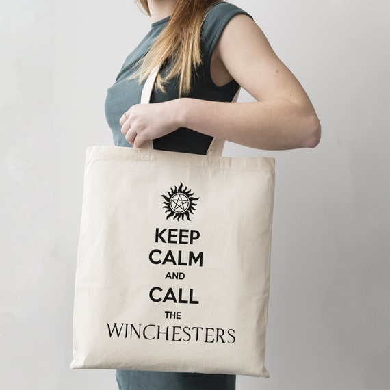 Keep Calm And Call The Winchesters Stofftasche Einkaufstasche Supernatural Fun