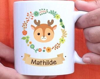 Taza para personalizar el pequeño Bambi - mug - personalizada - nombre - de regalo cumpleaños regalo - cervatillo - los ciervos - cervatillo