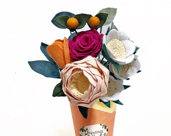 dried grasses and herbs Boho bouquet Peach peony roses Beautiful Maia Wedding Bouquet rustic flowers country style lavender daisies