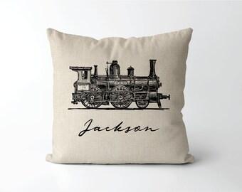 Train Pillow Etsy