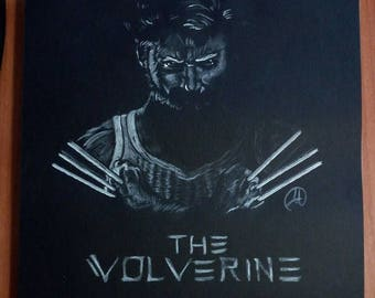 Drawing Wolverine The Immortal - superhero comic Marvel drawing on paper with charcoal