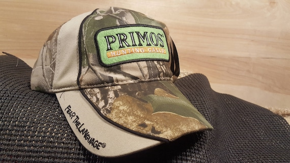Primos Hunting Calls Trucker Hat Vtg New Unused with Tags Camo  368c09638d3f
