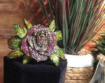 Signature Tokejotti Rose Bracelet, Cannabis Bracelet, Leather Bracelet, Pot Bracelet, Weed Bracelet, 420 Bracelet