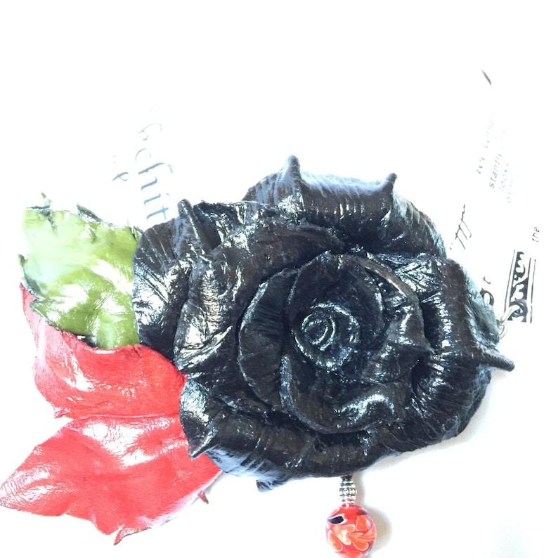 Leather Flower Choker Trust Your Own Media