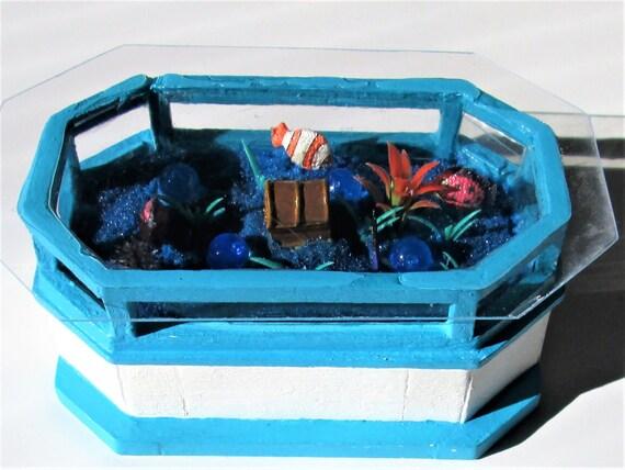 Aquarium Coffee Table.1 12 Miniature Aquarium Coffee Table Dollhouse Coffee Table Unique Aquarium Unique Coffee Table With Led Lights Not Real Fish Tanks