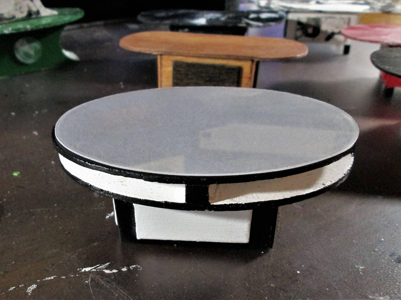 1 12 Miniature Coffee Table Dollhouse Coffee Table Unique Aquarium