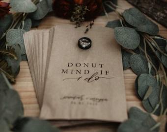 Donut Favor Bag   Wedding Favor Bags   Personalized Wedding Favor Bags, Custom Favor Bags   Favor Bags Wedding   Donut Mind If I do Bags
