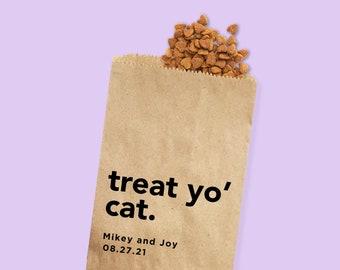 Cat Treat Favor Bag   Wedding Favor Bags   Personalized Wedding Favor Bags, Custom Favor Bags   Favor Bags Wedding   Kitty treats bag